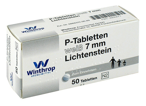 P-Tabletten Lichtenstein