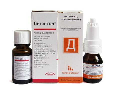 Вигантол и Витамин Д3 (колекальциферол)
