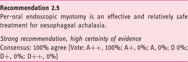 European Guideline on Achalasia – UEG and ESNM recommendations. Recommendation 2.5